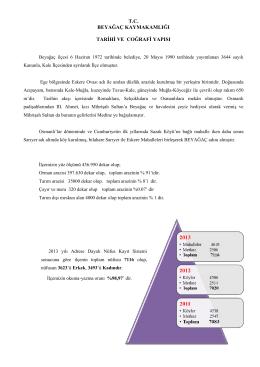 tc beyağaç kaymakamlığı tarihi ve coğrafi yapısı