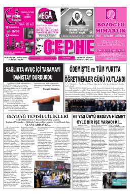 25.11.2014 Tarihli Cephe Gazetesi