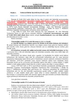 SAMSUN İLİ - Samsun Halk Sağlığı Müdürlüğü