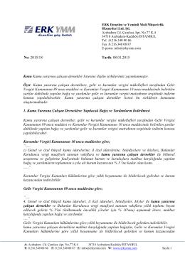 2015/18 - Kamu yararına çalışan dernekler listesine ilişkin