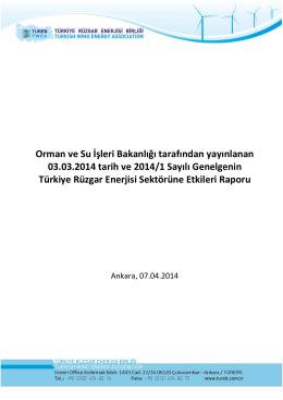 Orman ve Su İşleri Bakanlığı tarafından yayınlanan 03.03