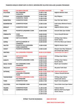 trabzon gençlik hizmetleri ve spor il müdürlüğü kış spor okulları