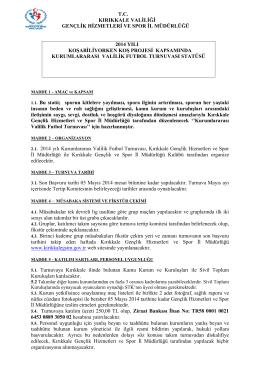 tc kırıkkale valiliği gençlik hizmetleri ve spor il müdürlüğü 2014 yılı