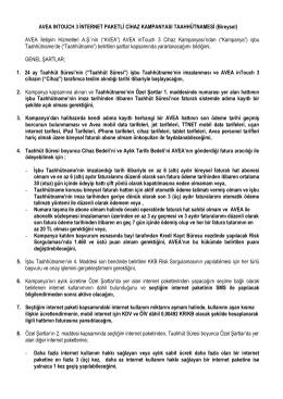 AVEA INTOUCH 3 İNTERNET PAKETLİ CİHAZ KAMPANYASI