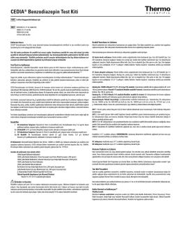 CEDIA® Benzodiazepin Test Kiti