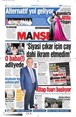 rüzgarı - Akdeniz Manşet