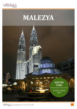 MALEZYA - Gazella Turizm