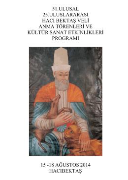 Hacı Bektaş Veli Anma Törenleri ve Kültür Sanat Etkinlikleri