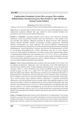 Olea europea - Biyoloji Kongreleri