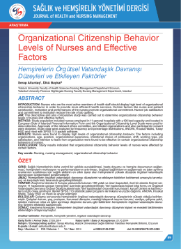 Organizational Citizenship Behavior Levels of