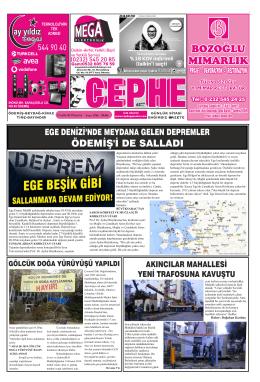 08.12.2014 Tarihli Cephe Gazetesi