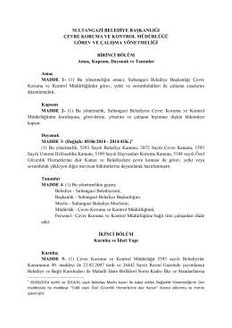 sultangazi belediye başkanlığı çevre koruma ve kontrol müdürlüğü