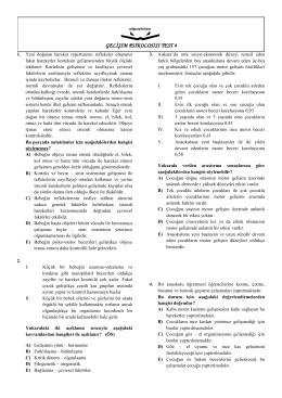 GELİŞİM PSİKOLOJİSİ TEST 4