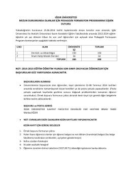 2014-2015 eğit - Iğdır Üniversitesi
