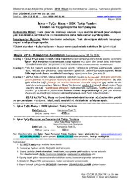 İşkur – TyÇp Maaş + SGK Takip Yazılımı Tanıtım