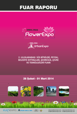 2014 FlowerExpo - UrbanExpo Fuar Raporu