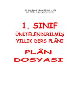 Yıllık Plan Kitapçığı İçin Tıklayınız.