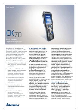 DÖKÜMAN İNDİRIntermec CK70