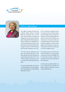 Prof. Dr. Meral Aksoy - İstanbul Sağlık ve Beslenme Bienali