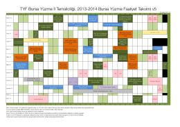 TYF Bursa Takvim 201..