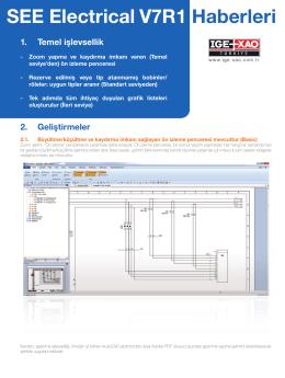 SEE Electrical V7R1 Haberler