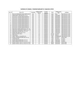 haziran ayı lisanslı / lisanssız bağlantı ve başvuru listesi