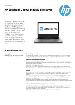 HP EliteBook 740 G1 Dizüstü Bilgisayar