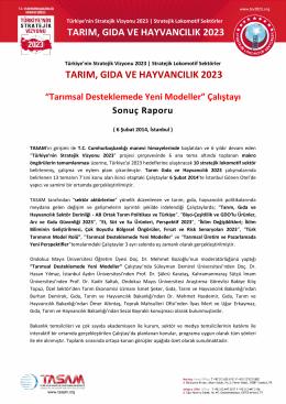 12. Çalıştay Sonuç Raporu