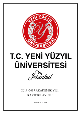 5 eylül 2014 - İstanbul Yeni Yüzyıl Üniversitesi