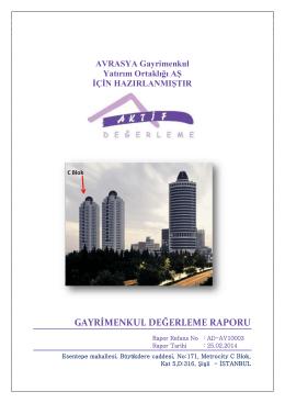 Metrocity C Blok 5. Kat D:316 - Avrasya Gayrimenkul Yatırım