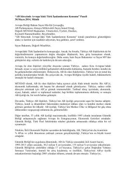 30 Mayıs 2014 AGİT - Avrupa Genişletilmiş İstişare Toplantısı