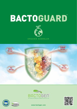 ORGANİK GÜBRELER - Bactogen Biyoteknolojik Ürünler