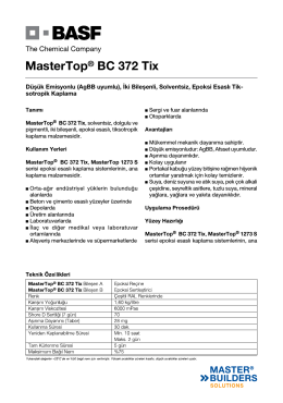 MasterTop® BC 372 Tix