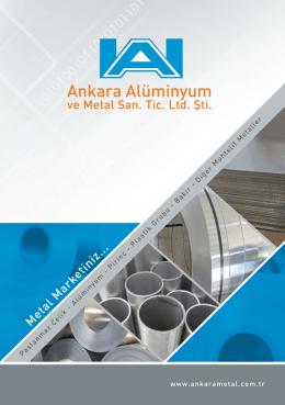 bilgisayarınıza indirebilir - Ankara Alüminyum ve Metal San. Tic. Ltd