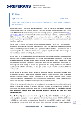 2014-062 Şirket Ortaklarının ve Yönetim Kurulu Üyelerinin 6552