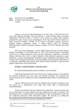T.C. ORMAN VE SU İŞLERİ BAKANLIĞI Personel Dairesi Başkanlığı