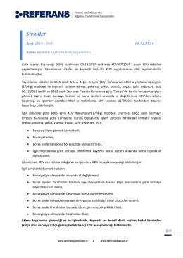2014-068 Kıymetli Taşlarda KDV Uygulaması