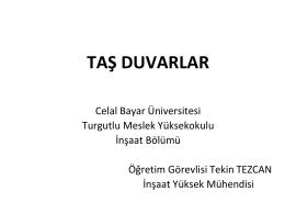 taş duvar - Celal Bayar Üniversitesi