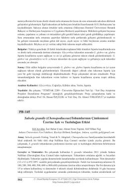Chenopodiaceae - Biyoloji Kongreleri