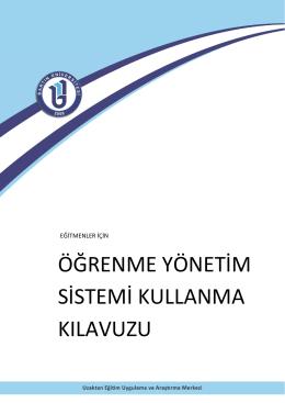 Eğitimci Kullanım Klavuzu (PDF)