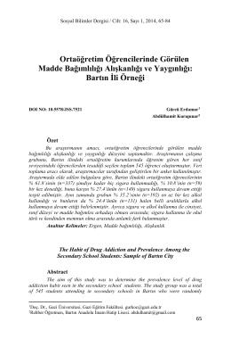Gürcü ERDAMAR Abdülhamit KURUPINAR