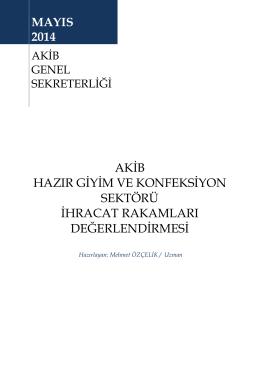 Mayıs 2014 - Akdeniz İhracatçı Birlikleri