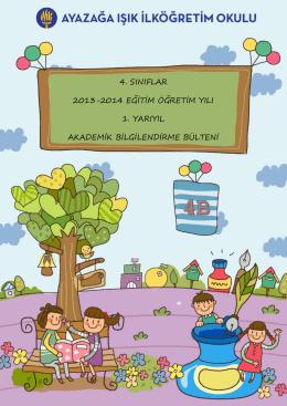 4. sınıflar 2013-2014 eğitim öğretim yılı 1. yarıyıl