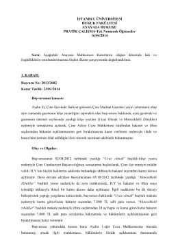 Tek Numaralı Öğrenciler - İstanbul Üniversitesi | Hukuk Fakültesi