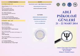 adli psikoloji günleri - Adli Bilimler Enstitüsü