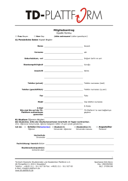 Mitgliedsantrag Üyelik formu - TD