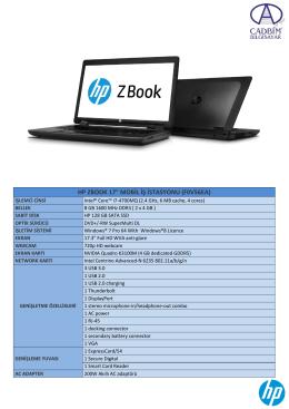 """HP ZBOOK 17"""" MOBİL İŞ İSTASYONU (F0V56EA)"""