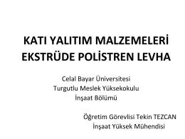 xps - Celal Bayar Üniversitesi