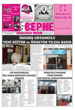 12.09.2014 Tarihli Cephe Gazetesi