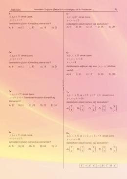 , , x y z , , x y z , , , 7 2 ⎛ ⎞ ⎝ ⎠ 7 3 ⎛ ⎞ ⎝ ⎠ 7 6 ⎛ ⎞ ⎝ ⎠ 8 3 ⎛ ⎞